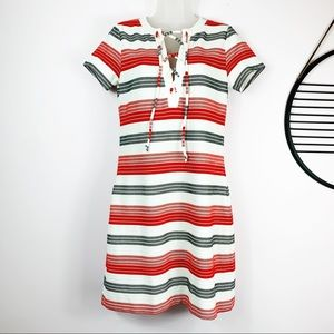 JACK by BB Dakota Bodycon striped red white dress